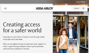 The ASSA ABLOY Group - global leaders in access solutions
